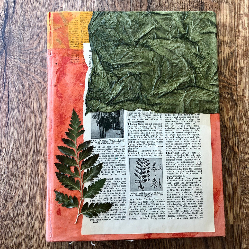 Encyclopedia Growth  - Handmade Journal/Sketch Book
