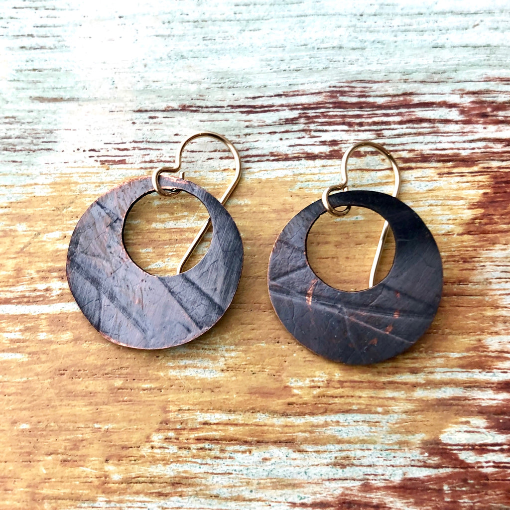 Copper Pressed Earrings