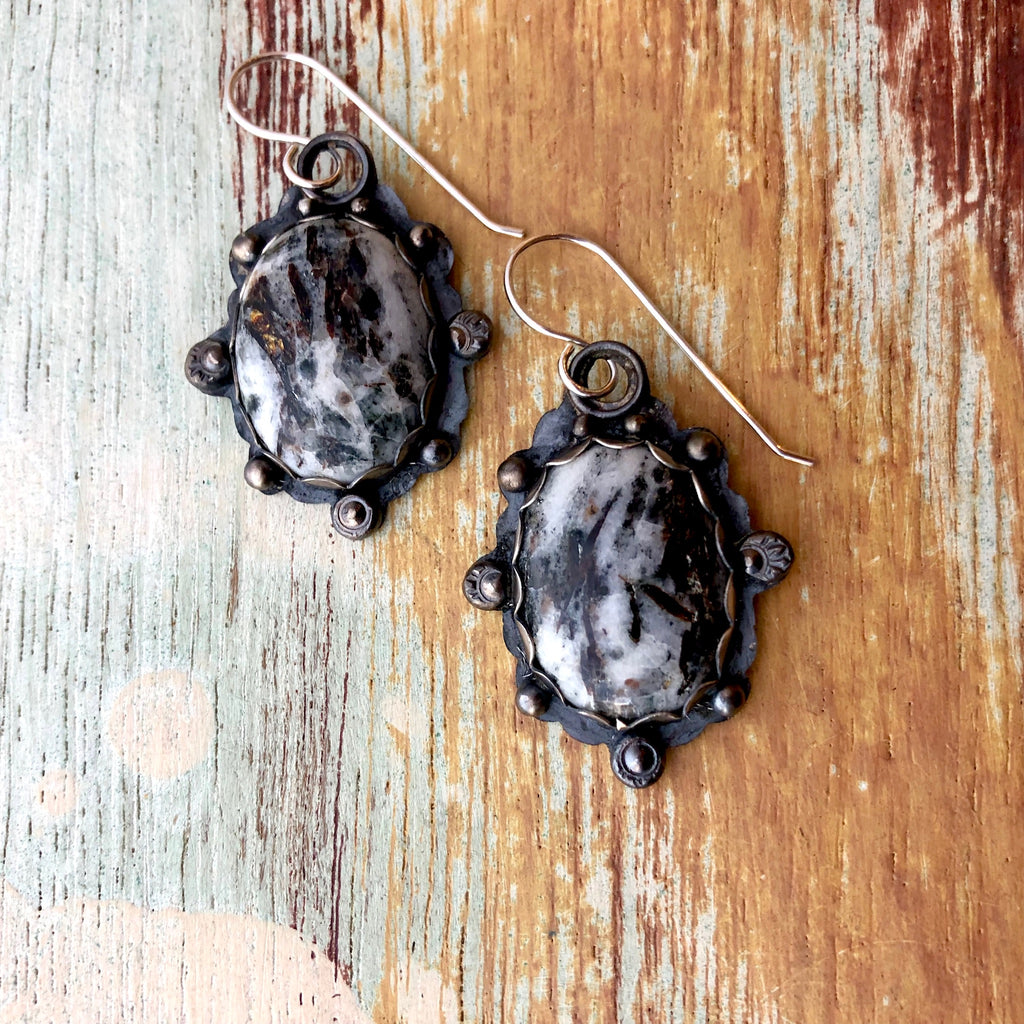 Astrophyllite Earrings