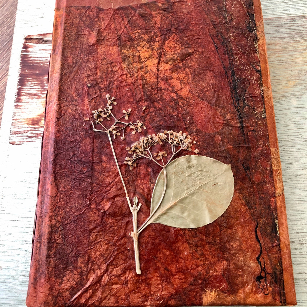 Burnt Oragner  - Handmade Book