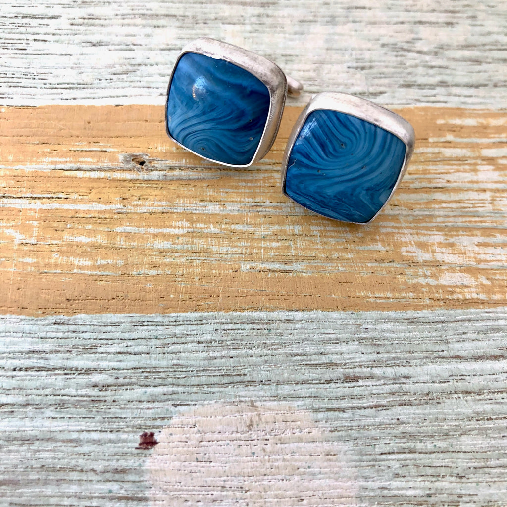Swedish Blue Cuff Links