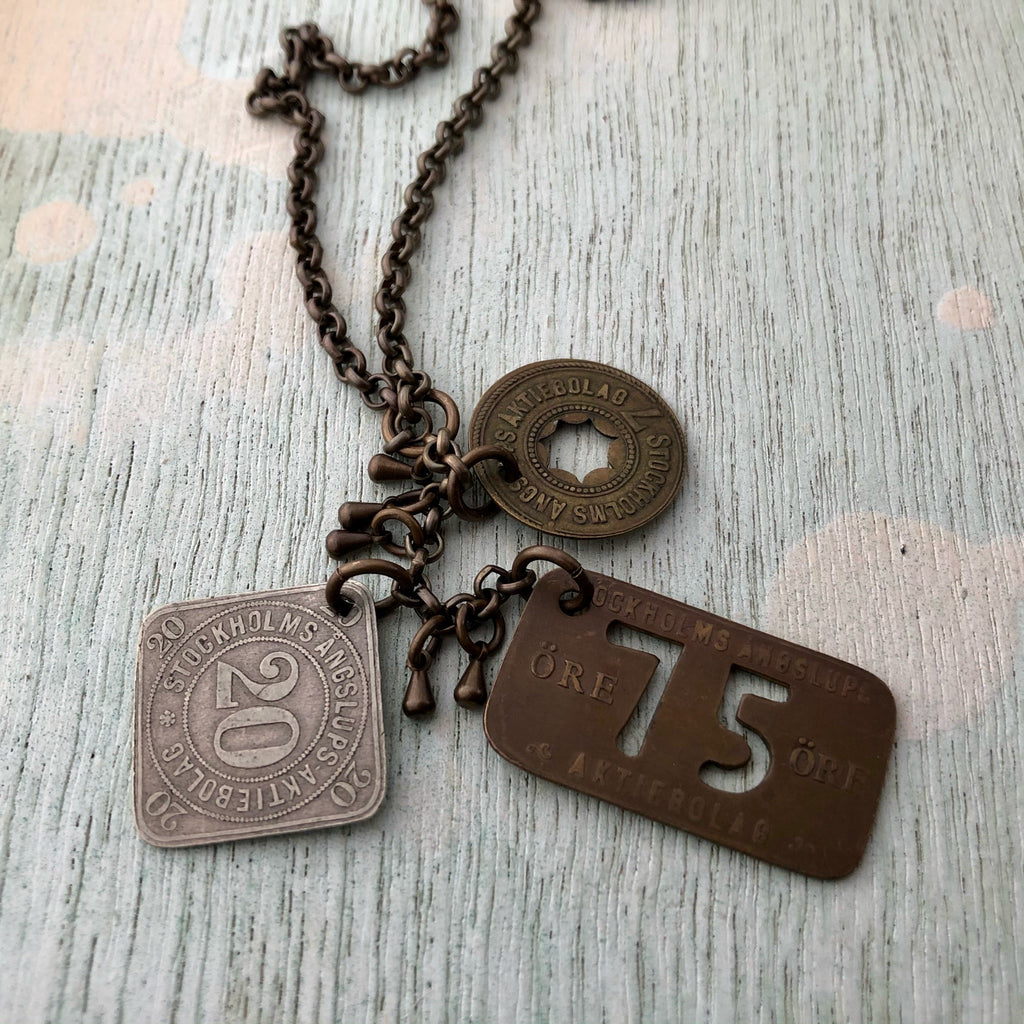 Swedish Steamship Token Necklace