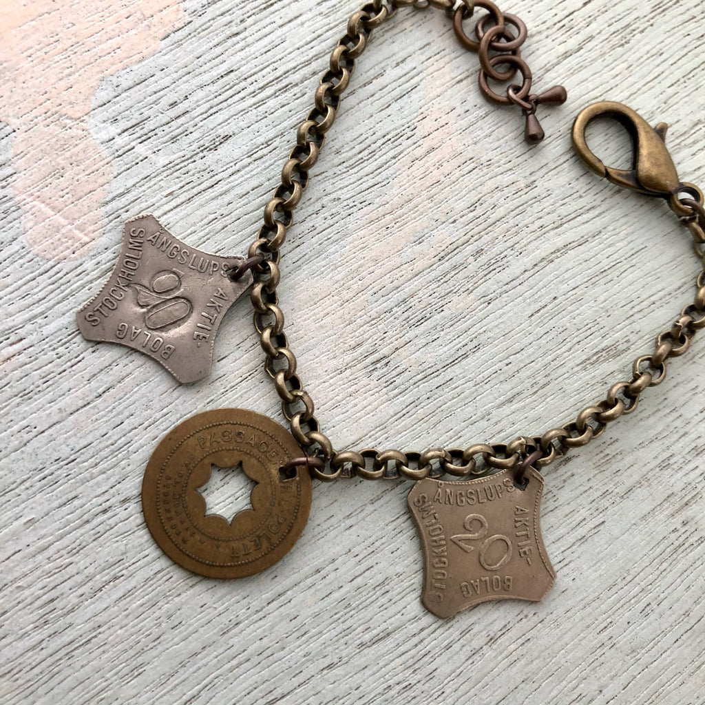 Swedish Steamship Token Bracelet