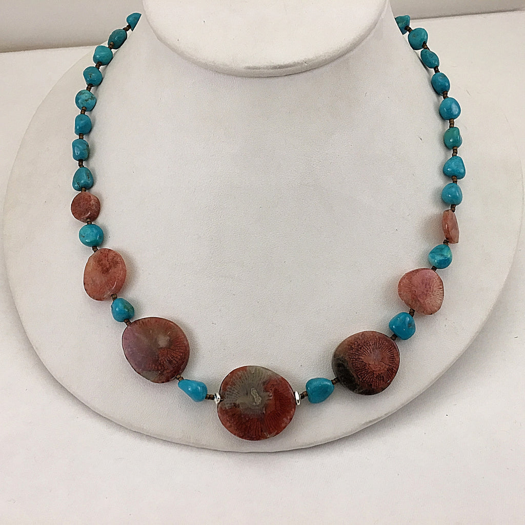Red Horn Coral Necklace