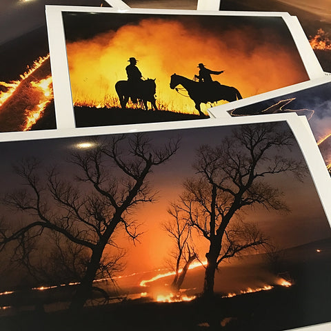 Box of 8 Burning of the Flint Hills Cards