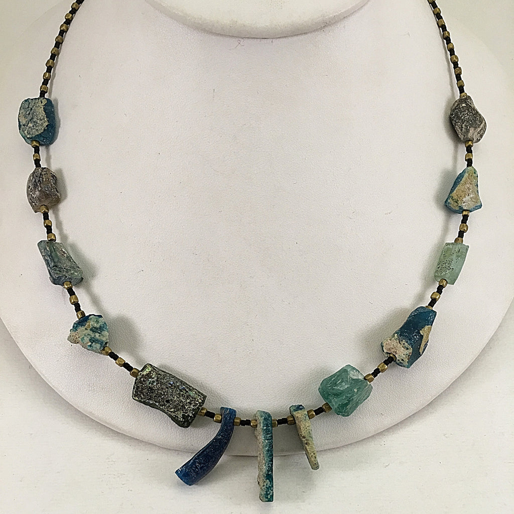 Ancient Glass Drop Necklace