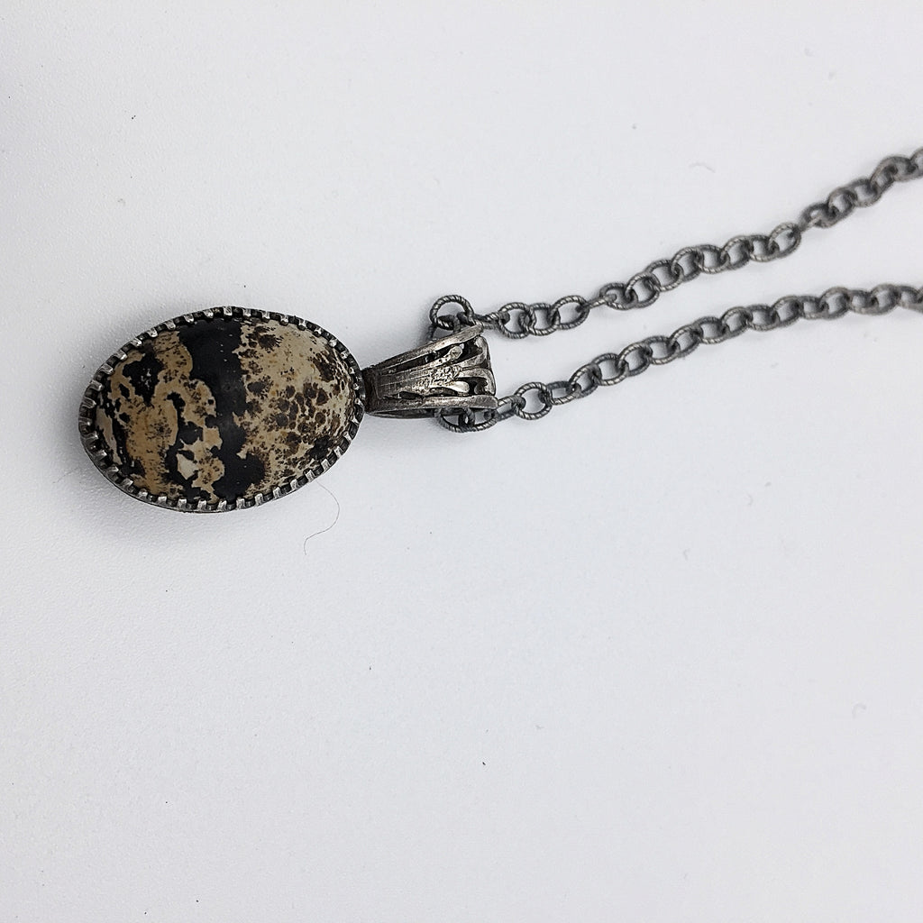 Two Sided Artistic Stone Necklace
