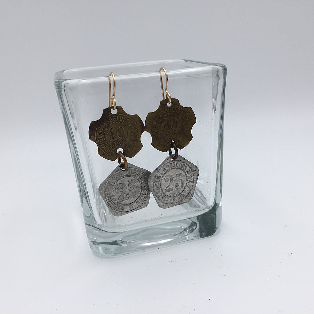 Double Swedish Token Earrings