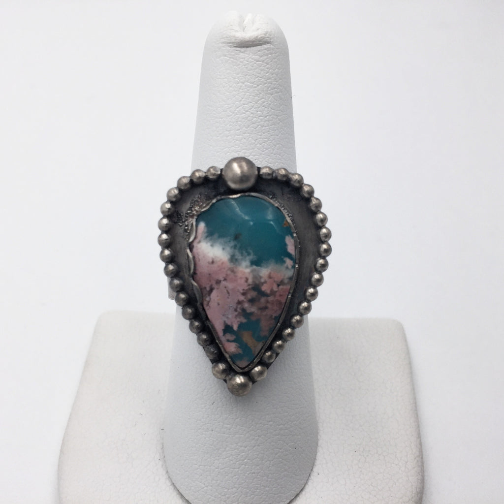 Coral Sea Agate Ring