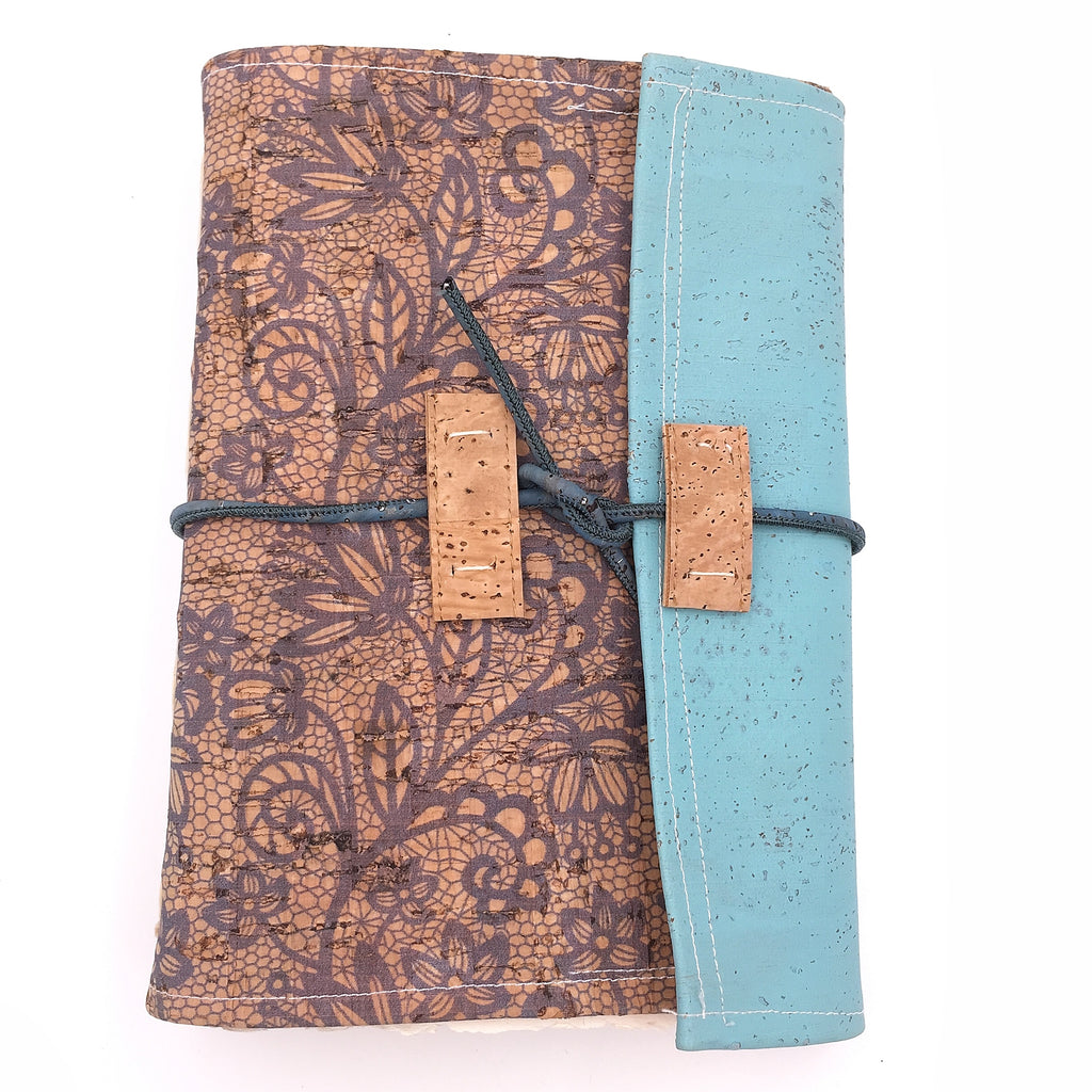 Floral Cork Fabric - Handmade Photo/Sketch Book
