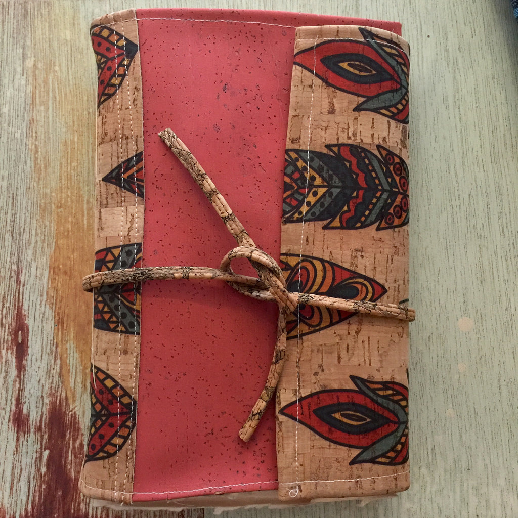 Feather Cork Fabric - Handmade Photo/Sketch Book