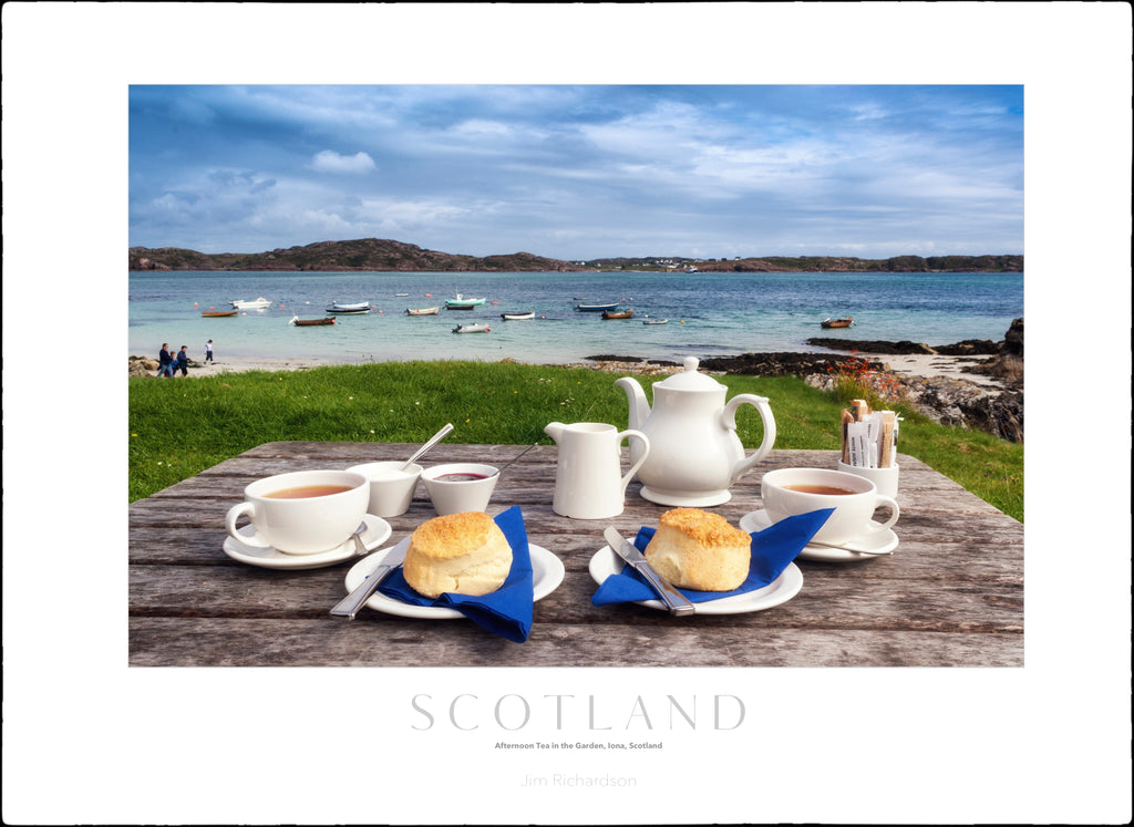 Tea at Argyle Hotel, Iona, Scotland