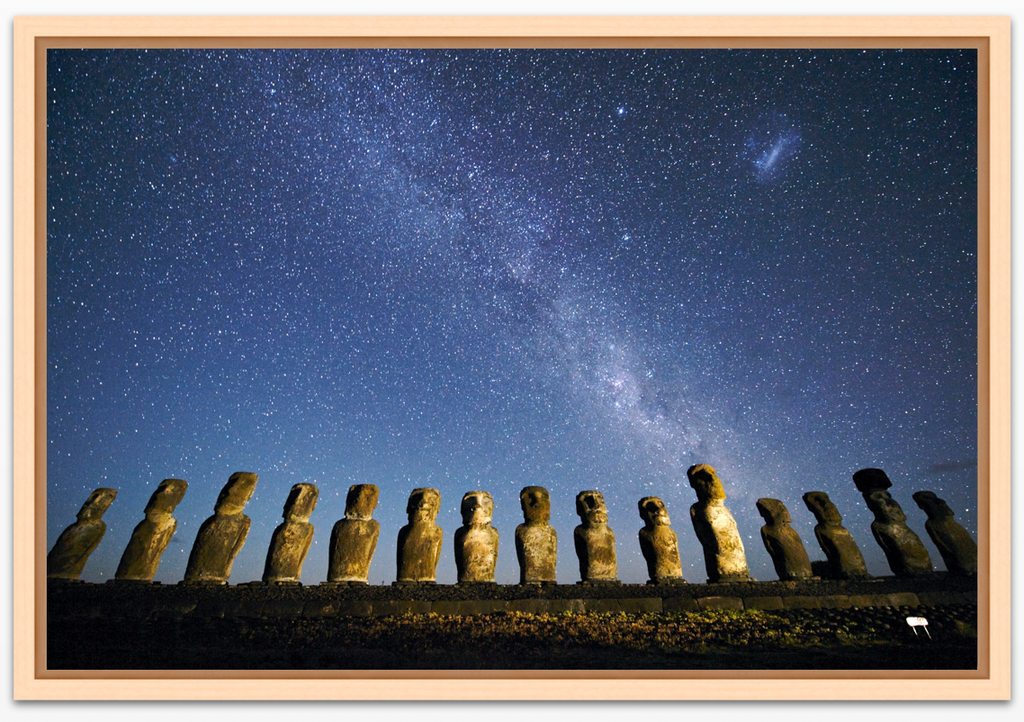 Moai and Milky Way, Easter Island
