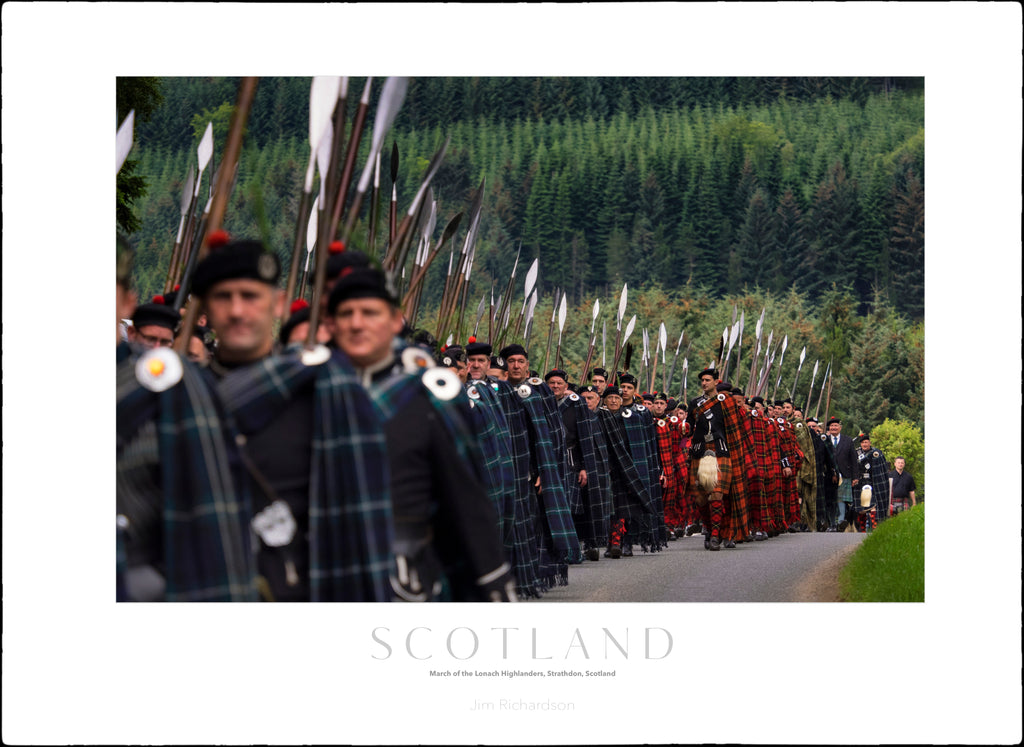 March of the Lonach Highlanders, Strathdon, Scotland