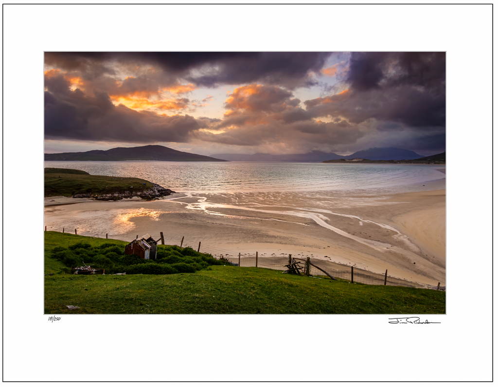 Sunset at Seilbost Strand, Isle of Harris, Scotland