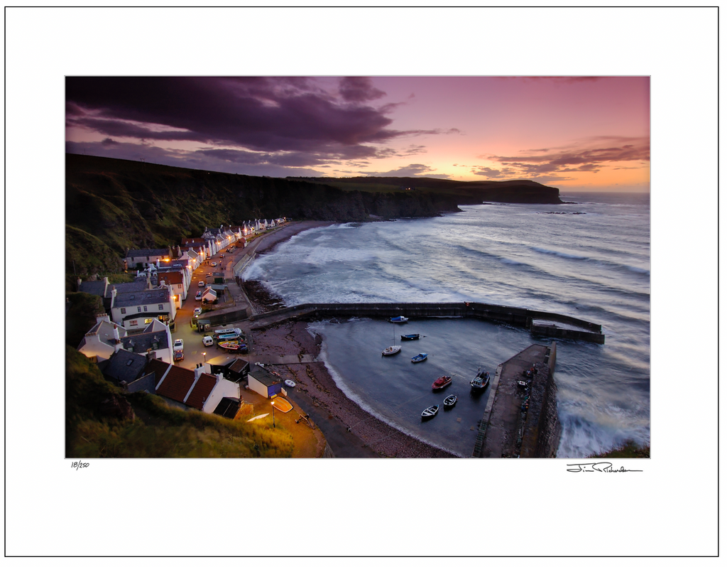 Evening at Pennan, Highlands,  Scotland