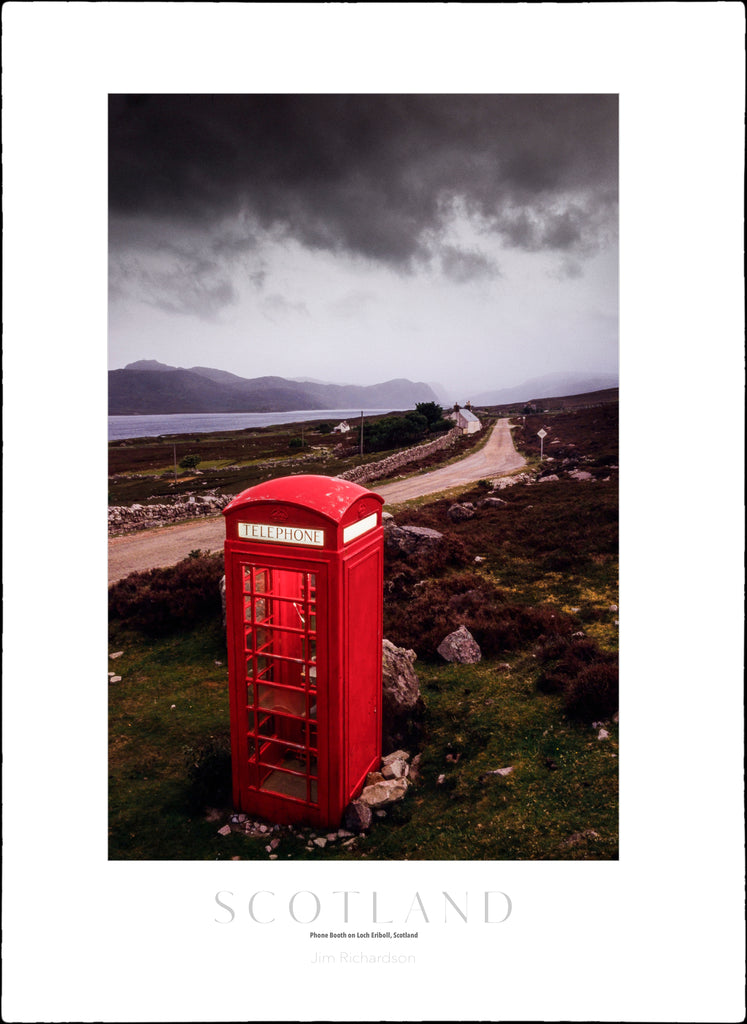 Red Phone Booth, Loch Eriboll, Scotland