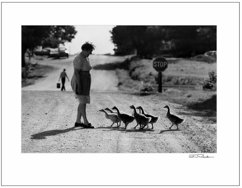 Betty Klauman and Her Geese, Cuba, Kansas