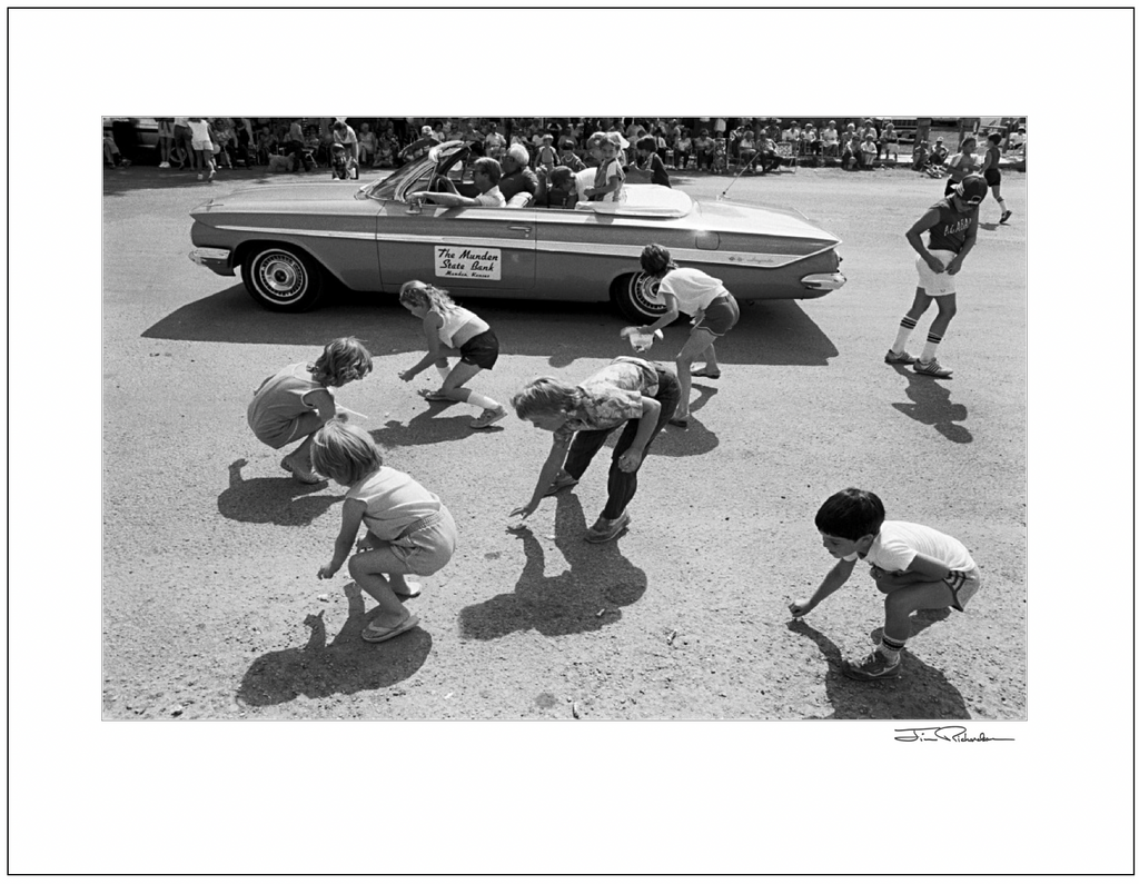 Throwing Candy in the Harvest Festival Parade, Cuba, Kansas