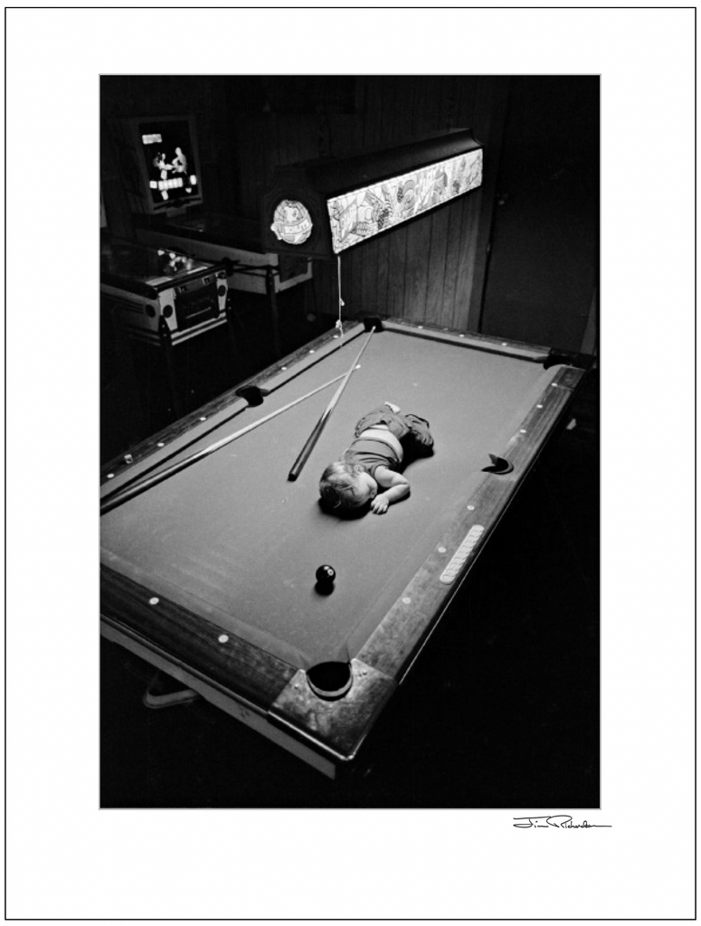 Baby on the Pool Table, Cuba, Kansas