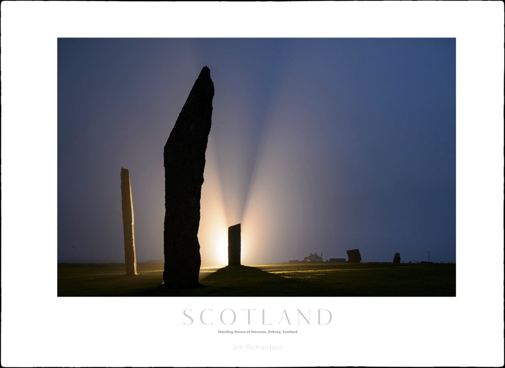 Foggy Night at Stones of Stenness, Orkney, Scotland