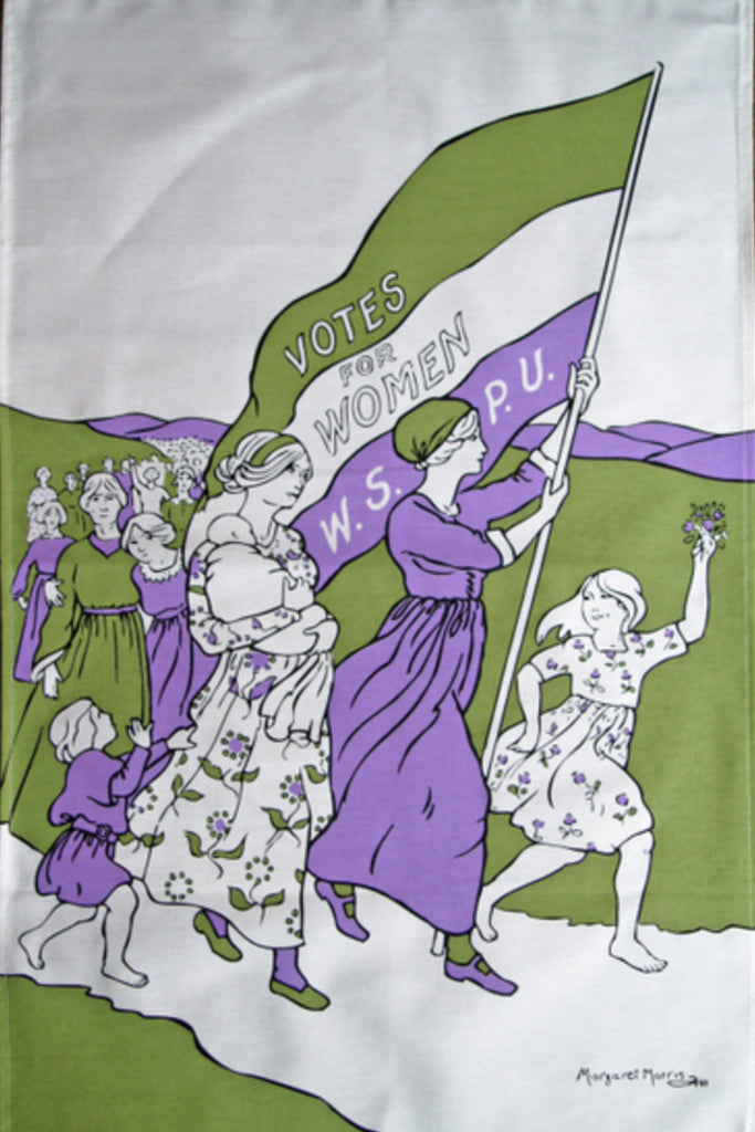 Votes for Women March Tea Towel