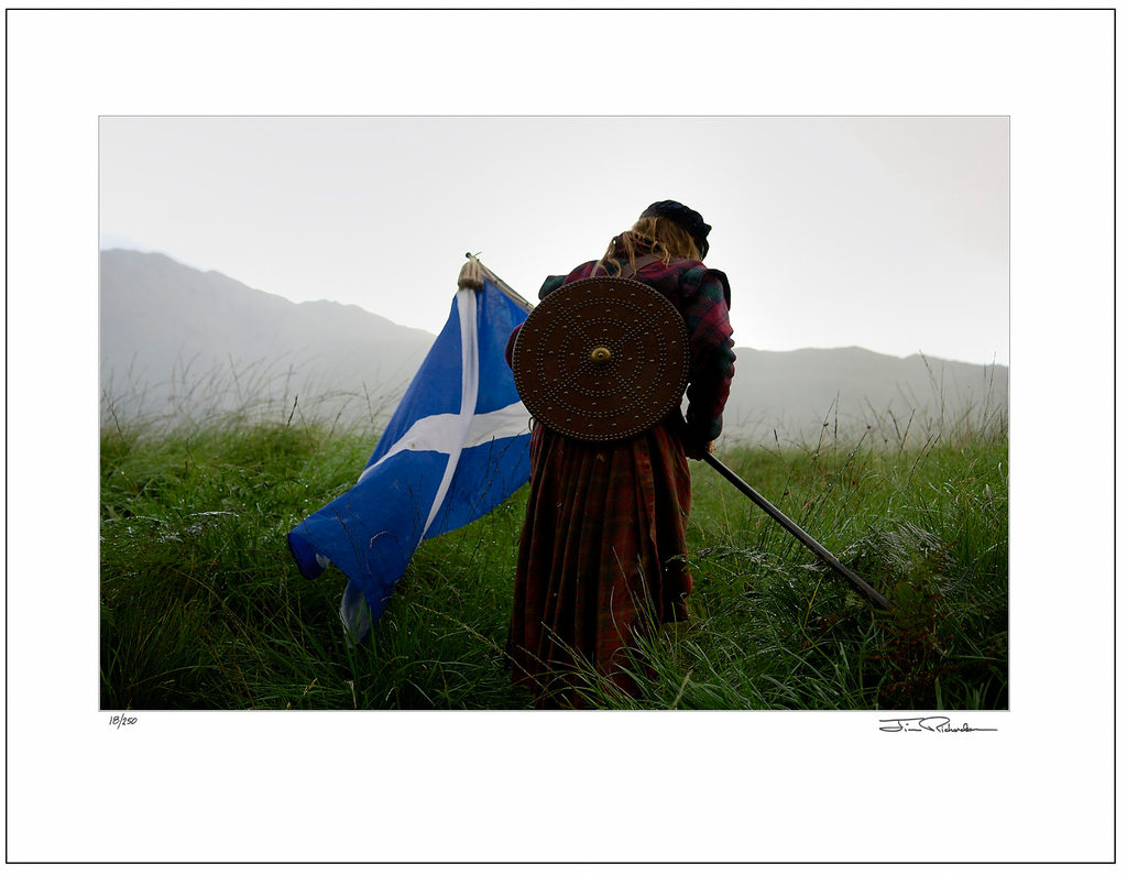 Highlander and Saltire, Glenfinnan, Scotland