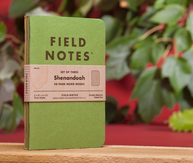 Field Notes - Shenandoah - Set of 3