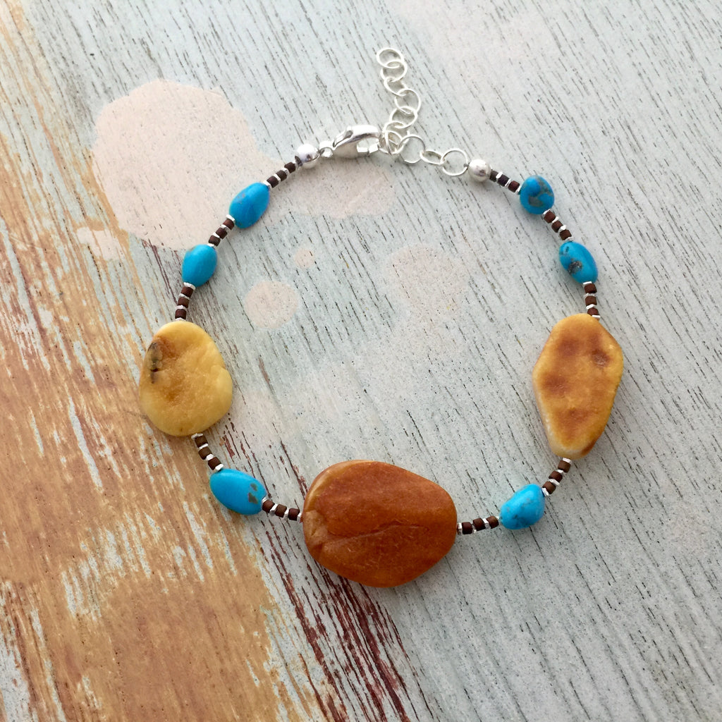 Baltic and Turquoise Bracelet