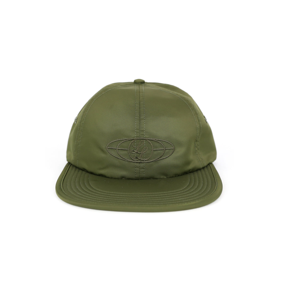 GLOBAL LOGO FORMLESS 6-PANEL CAP [SATIN]