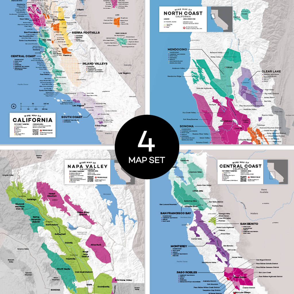 Wine Folly | California Regional Map Set