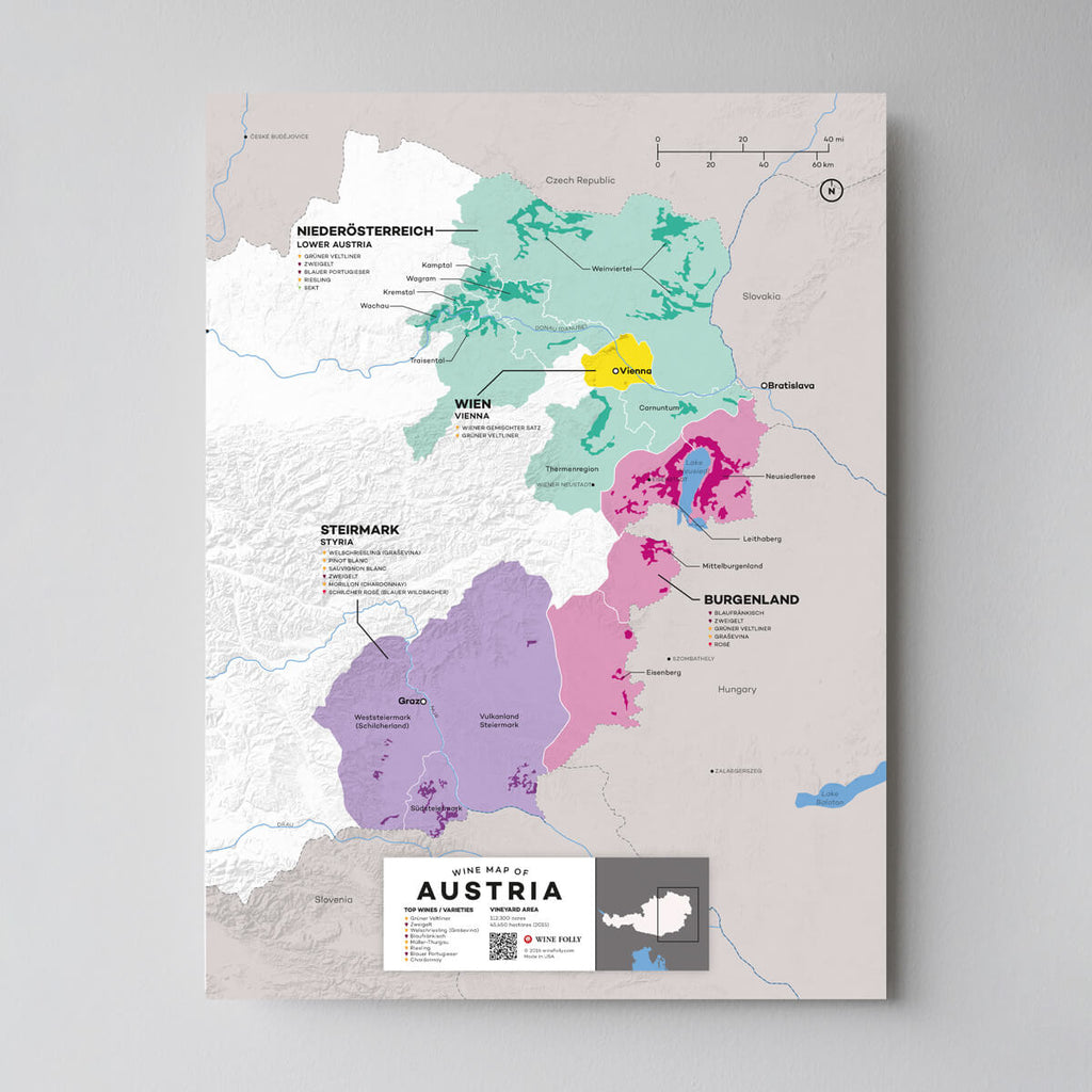 Map of Austria Wine Regions