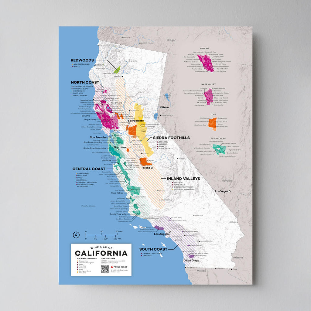 Map of California Wine Regions | California Regional Map Set