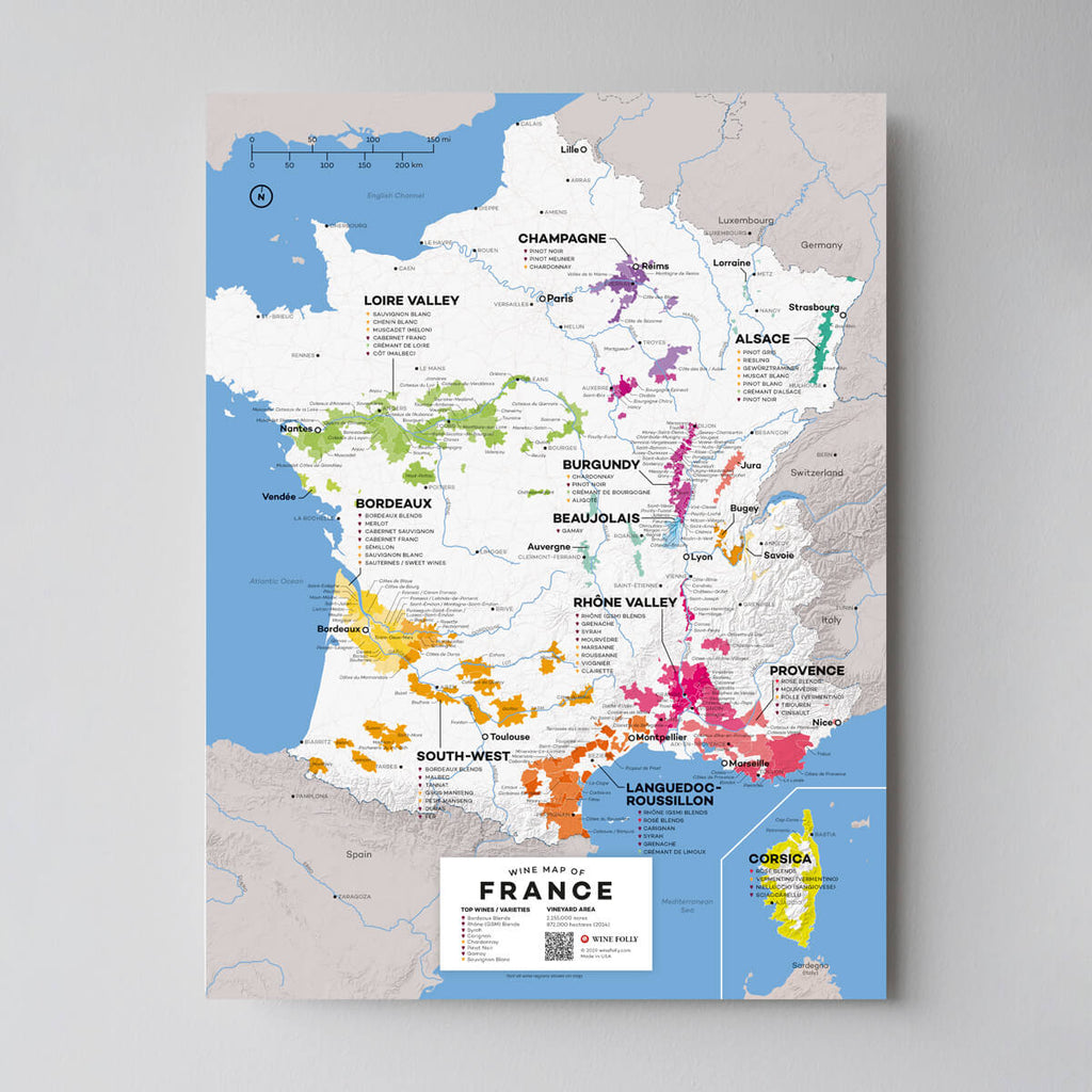 Map of France Wine Regions | France Wine Map Set