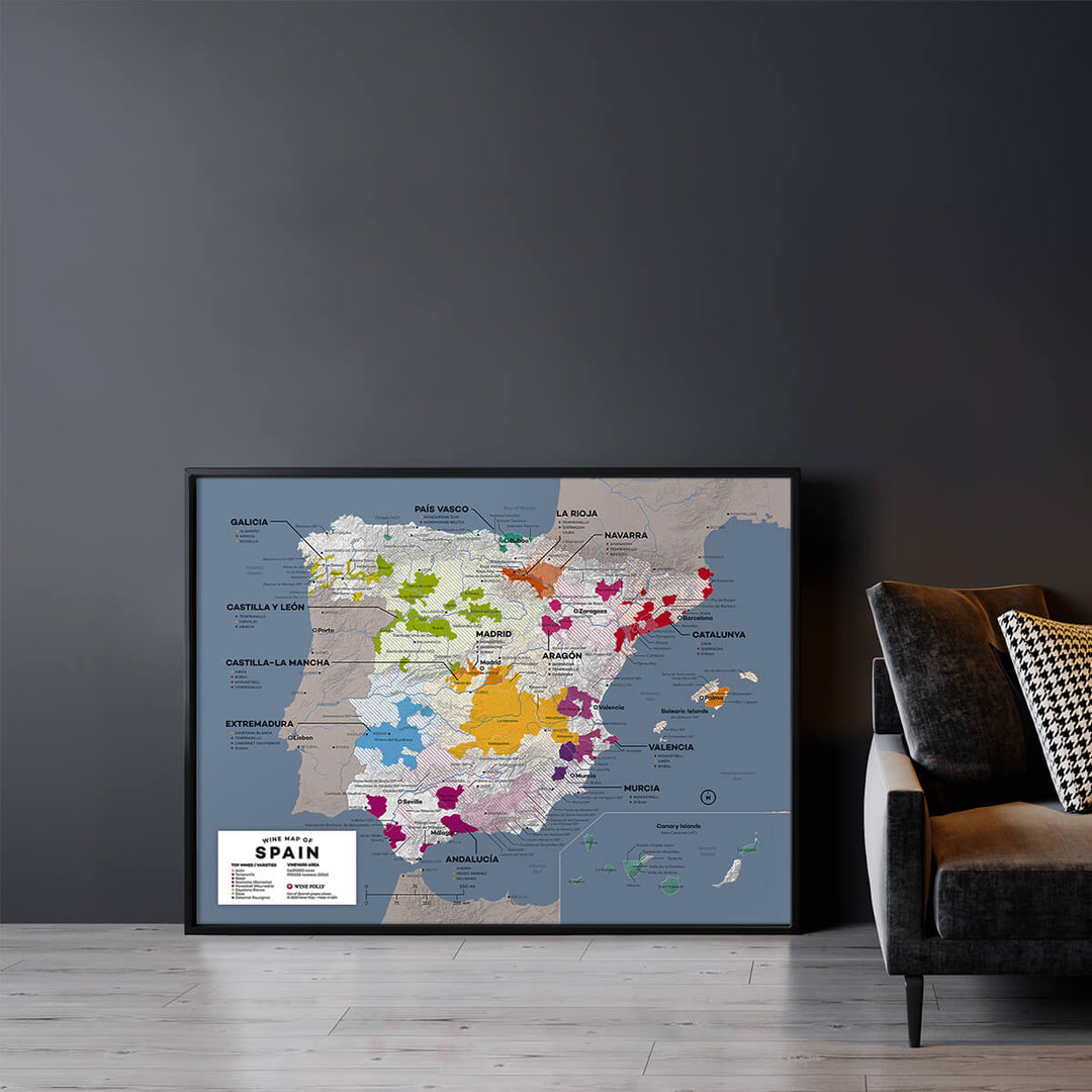 Large Spain Wine Map
