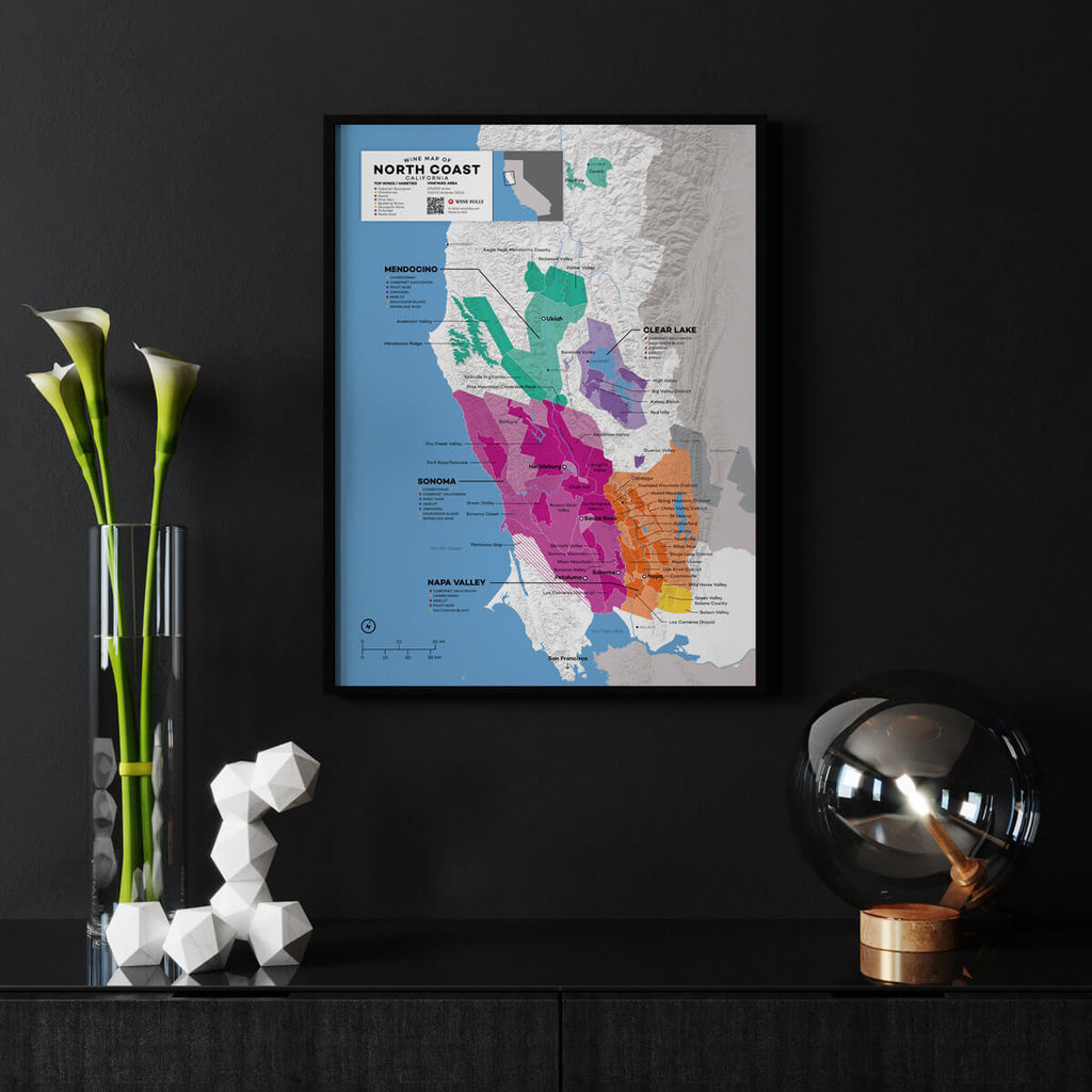 North Coast California Wine Map | Map of California Wine Regions