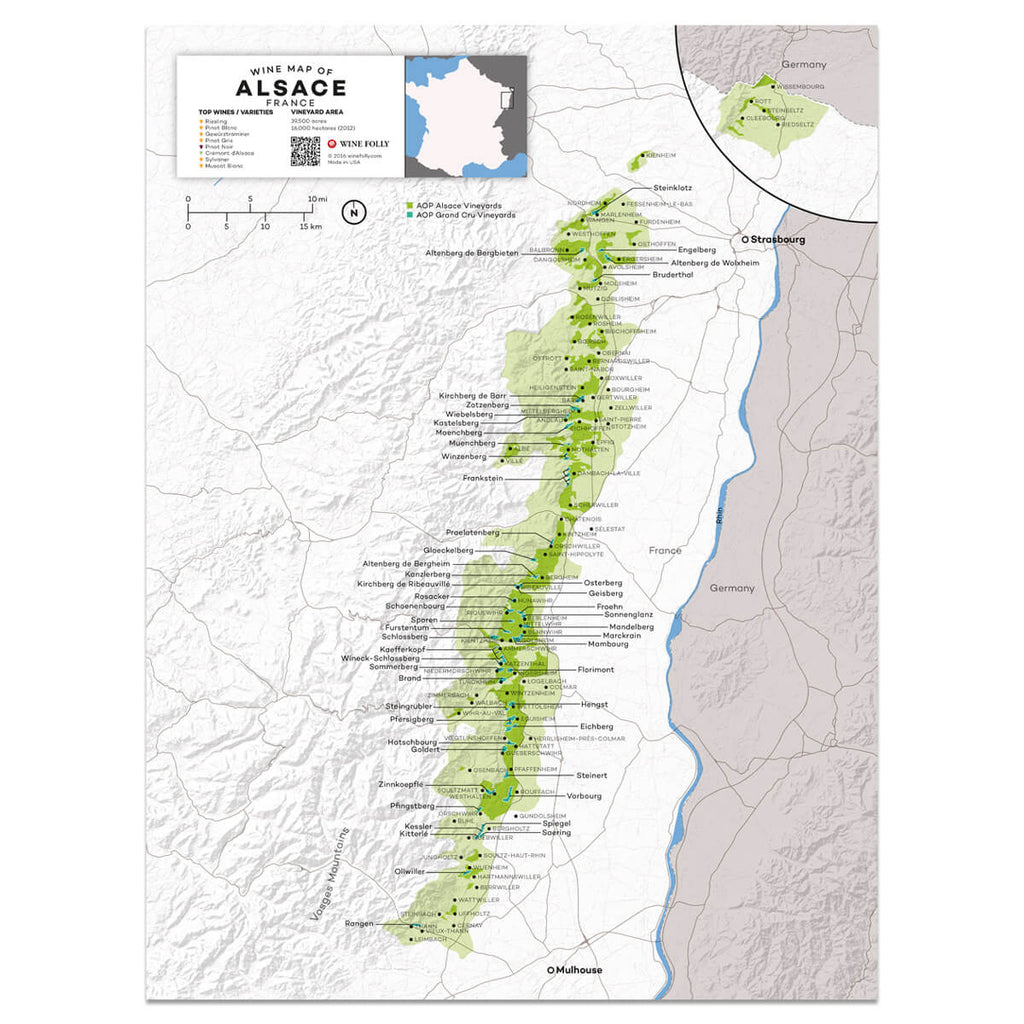 Alsace Wine Map | Map of France Wine Regions