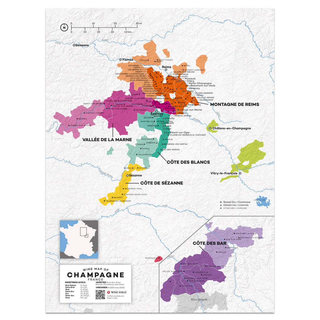 Champagne Wine Map | Map of France Wine Regions