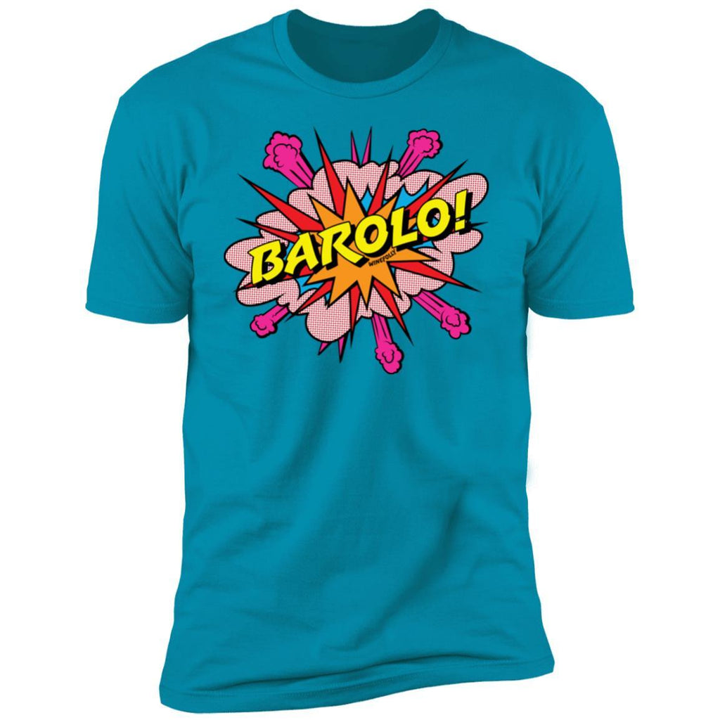 barolo wine t-shirt apparel mens turquoise folly