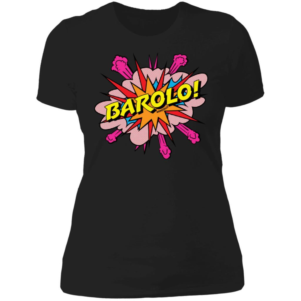barolo wine t-shirt apparel womens black folly