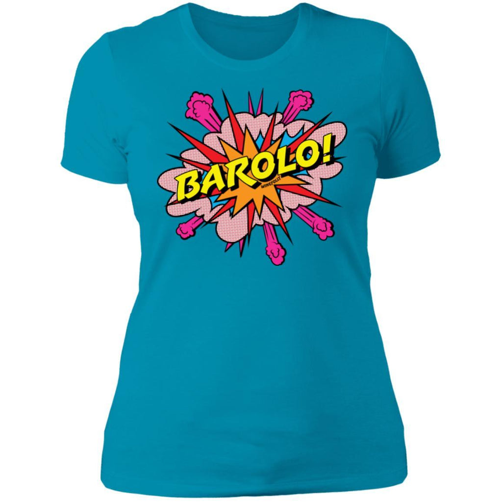 barolo wine t-shirt apparel womens turquoise folly
