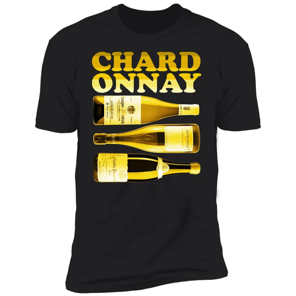 chardonnay wine t-shirt apparel mens black folly