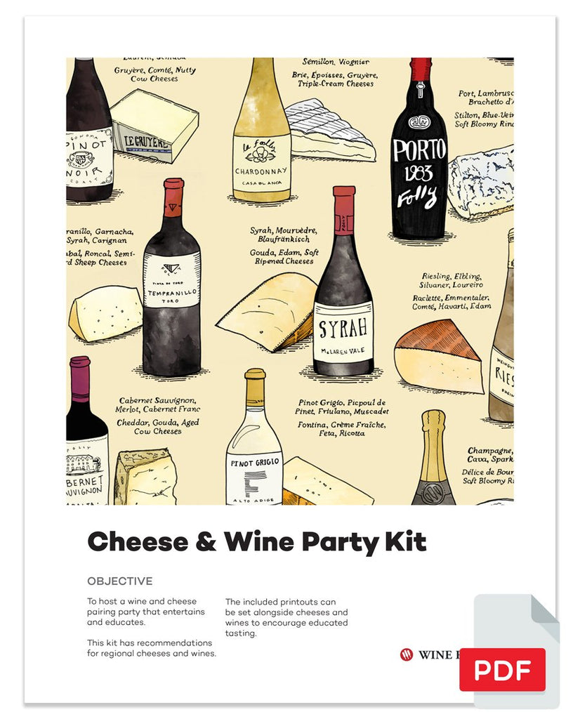 Wine and Cheese Pairing Party Kit (pdf) download