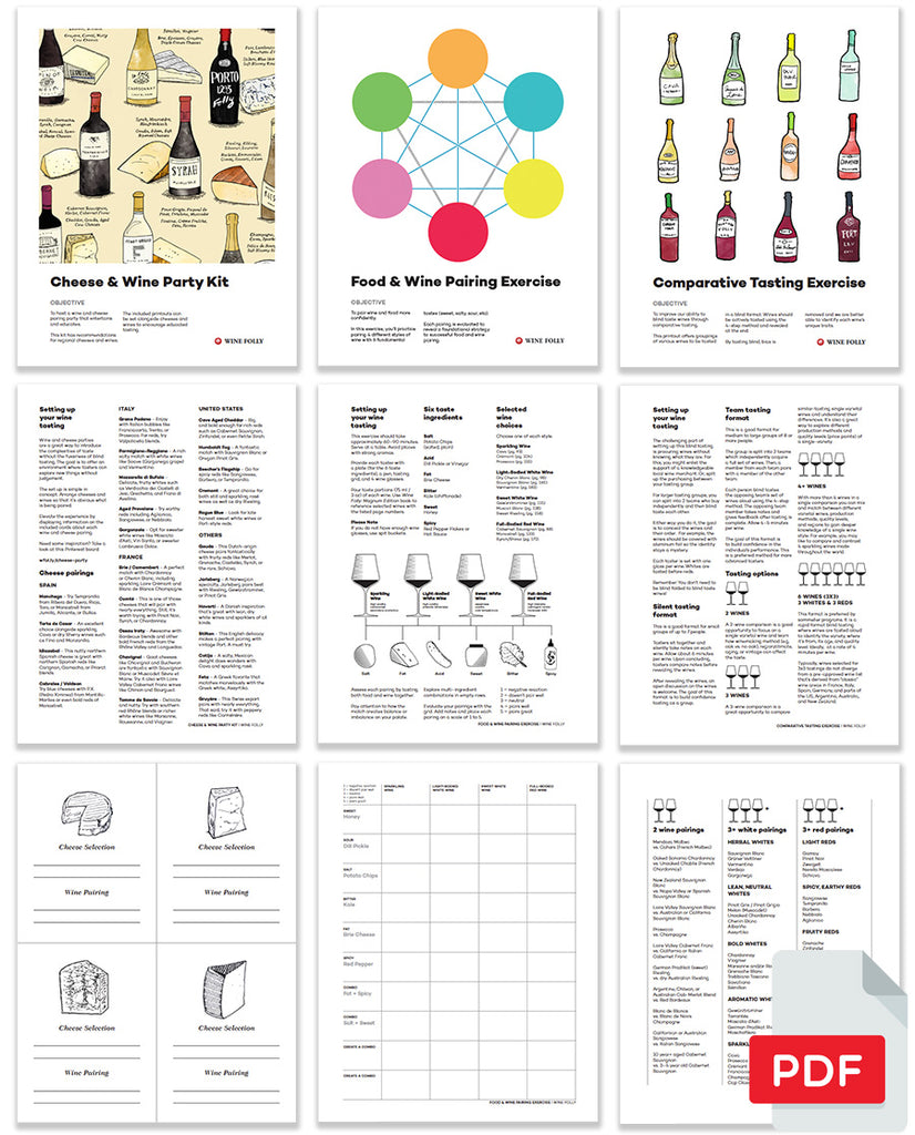 Intro to Wine PDF Bundles Preview Pages from Wine Folly