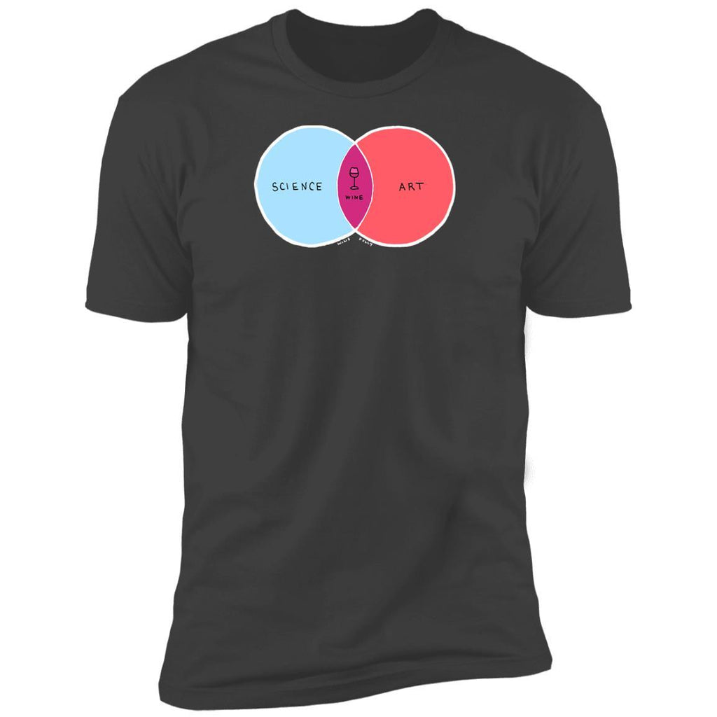 Science and Art Wine T-Shirt (Dark Edition)