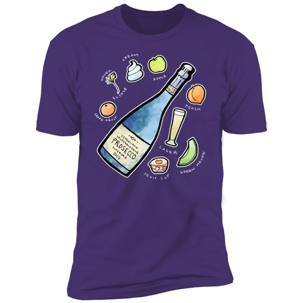 prosecco wine t-shirt apparel mens purple folly