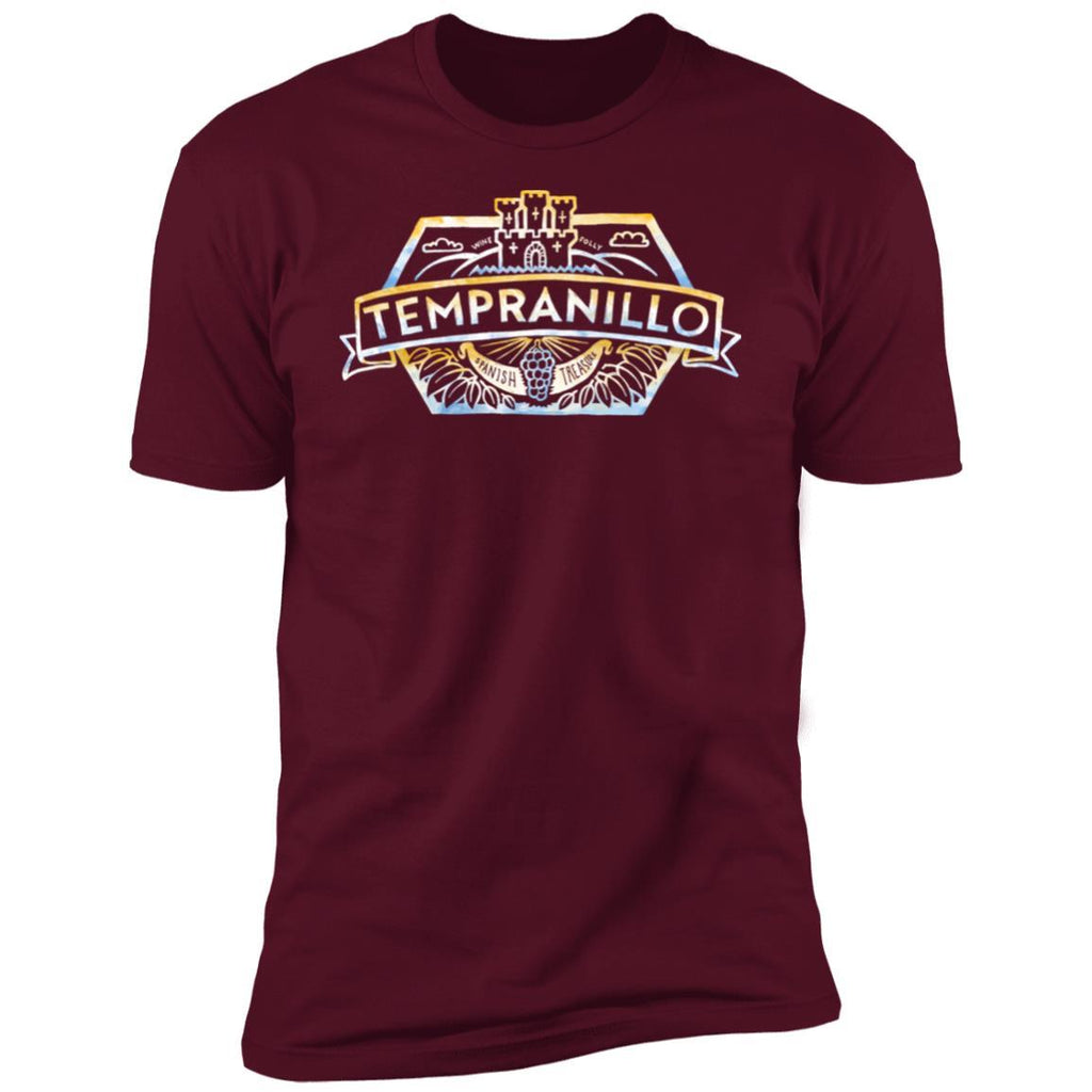 tempranillo wine t-shirt apparel mens maroon folly