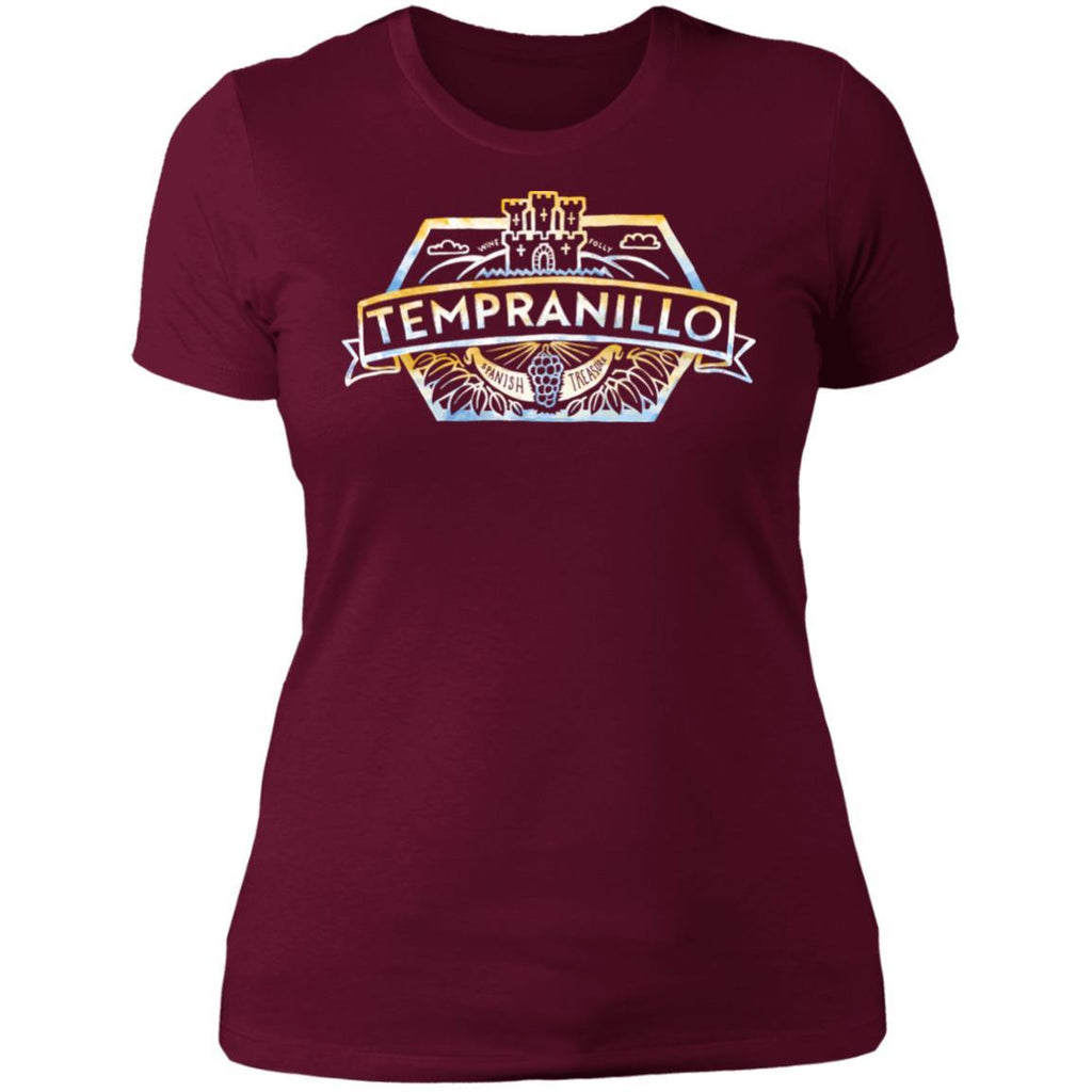 tempranillo wine t-shirt apparel womens maroon folly