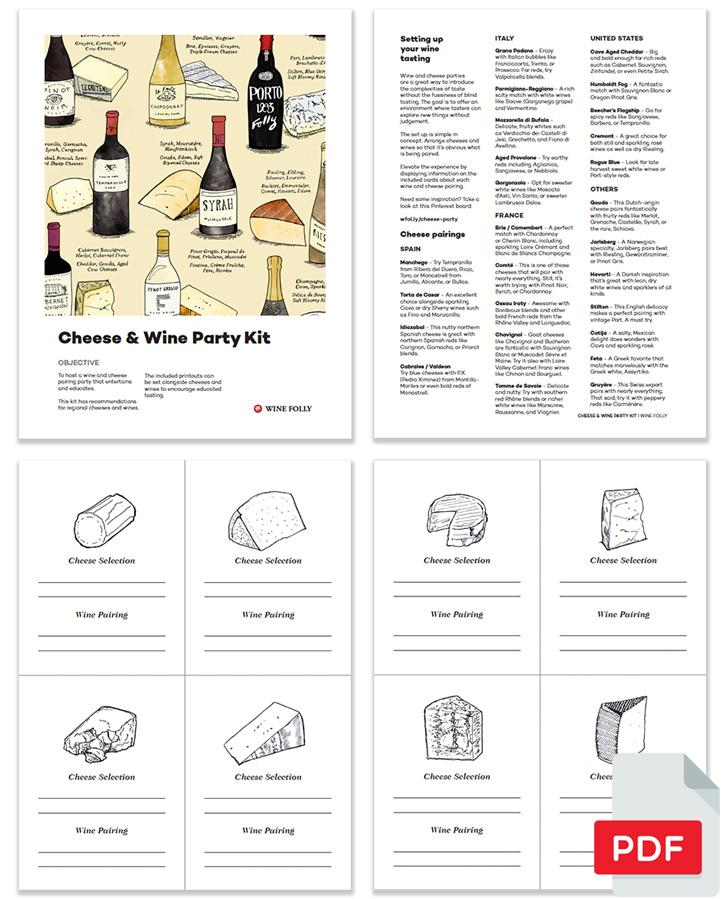 Cheese & Wine Party Kit (Digital Download) Tasting Tool