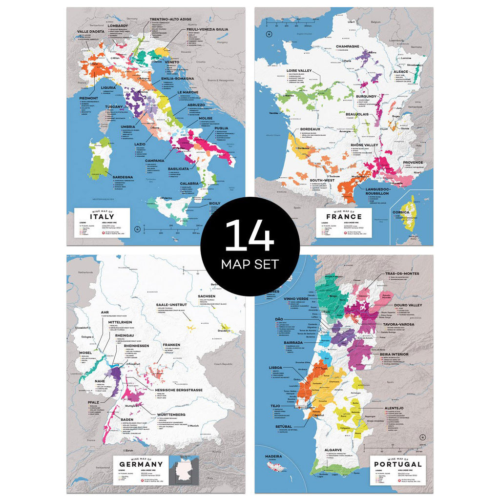 wine countries map set region regional appellations grapes varieties topography elevation vineyard area acreage folly digital download pdf